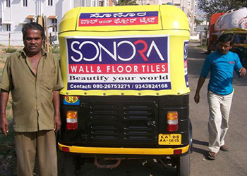 Auto rickshaw advertising in Bangalore