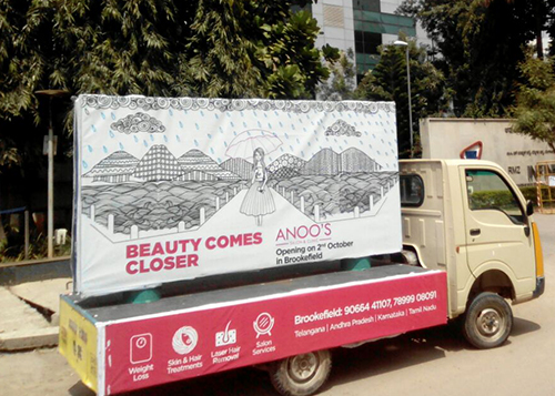 mobile van advertising in Bangalore