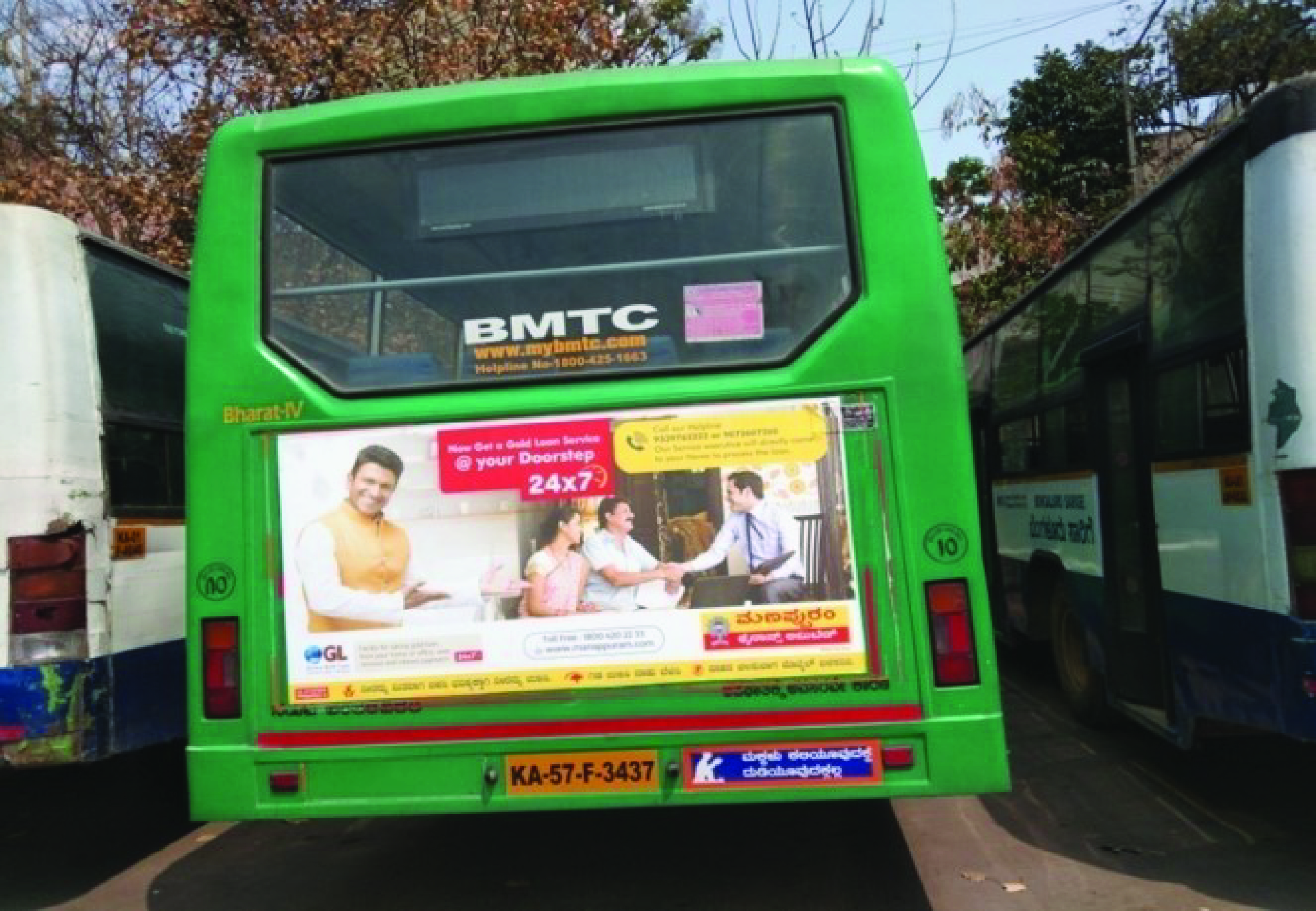 BMTC Bus Back Panel Branding in Bangalore