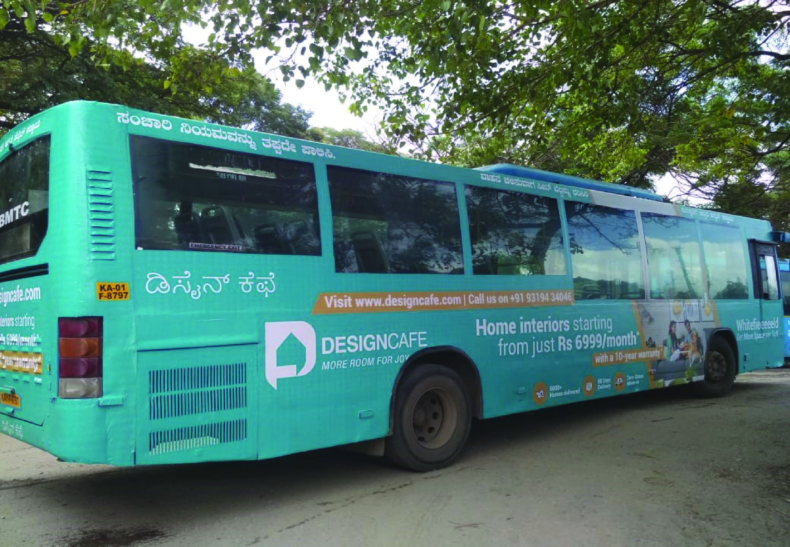 Design Cafe Bus Advertisement in Bangalore