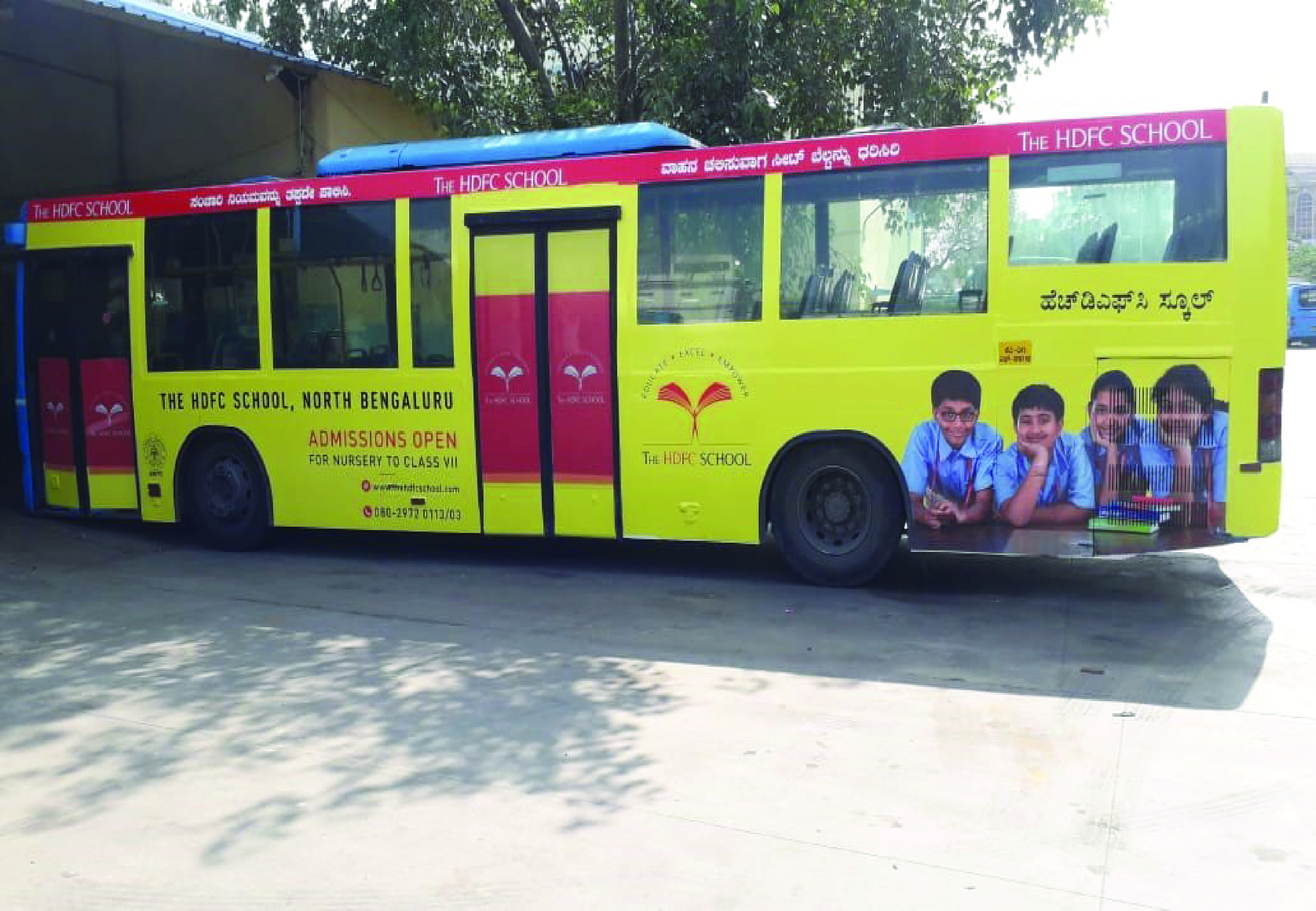 HDFC School Bus Advertisement in Bangalore